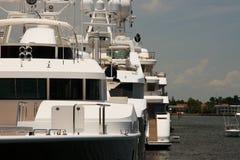Yachten im Hafen des Fort Lauderdale Stockfotografie