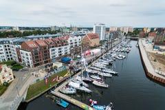 Yachten im Hafen von Gdansk Lizenzfreie Stockbilder