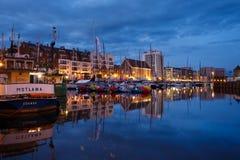 Yachten im Hafen von Gdansk Stockfotografie