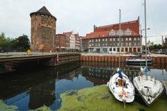 Yachten im Hafen von Gdansk Stockfoto