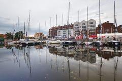 Yachten im Hafen von Gdansk Stockbilder