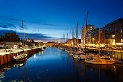 Yachten im Hafen von Gdansk Lizenzfreie Stockfotografie
