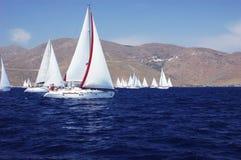 Yachten im Meer Lizenzfreie Stockfotografie