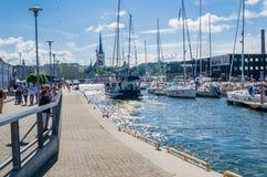 Yachten kommen, die Tage des Meeres in Tallinn zu feiern Stockbild