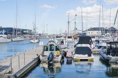 Yachten kommen, die Tage des Meeres in Tallinn zu feiern Lizenzfreie Stockfotografie