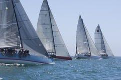 Yachten konkurrieren in Team Sailing Event Lizenzfreies Stockfoto