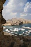 Yachten in Oman Stockbild