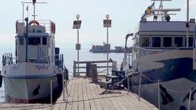 Yachten am Pier stock video