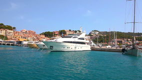 Yachten in Port de Soller, Mallorca-Insel, Spanien stock video