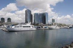 Yachten in San Diego Stockbilder