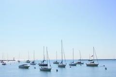 Yachten am Sommer Stockfotografie