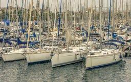 Yachten und Boote Stockbild