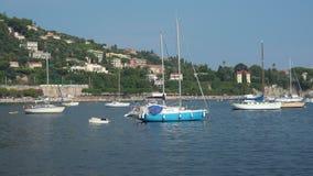 Yachten in Villefranche in Frankreich stock footage