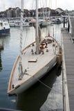 Yachten in Werft Stockfoto