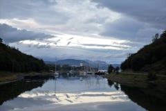 Yachten in Williams-Hafen, Paprika Stockfotos