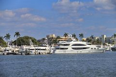 Yacht i West Palm Beach Royaltyfria Foton