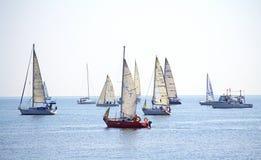 Yachter för regattaCor Caroli segling Arkivbild