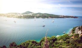 Yachter i Adriatiskt havet Fotografering för Bildbyråer