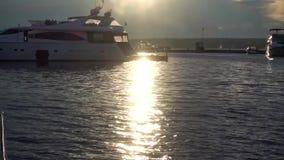 Yachter i fjärd stock video