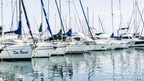 Yachter i franska Riviera Fotografering för Bildbyråer