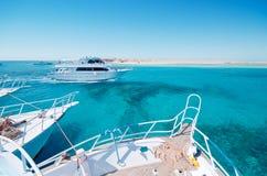 Yachter i havet royaltyfria bilder