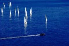 Yachter i havet. Royaltyfri Fotografi