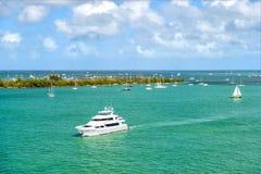 Yachter i Key West Royaltyfria Foton