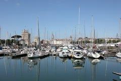 Yachter i marina av La Rochelle Arkivfoto
