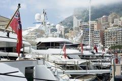 Yachter på Monaco Arkivbilder
