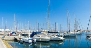 Yachterna i port Arkivbilder