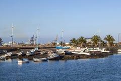 Yachthafen in Arrecife, Spanien lizenzfreie stockfotografie