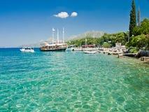 Yachthafen in Griechenland Stockbild