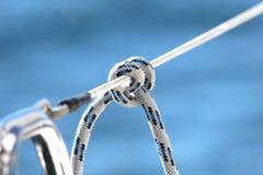 yachting яхты ворота парусника веревочки детали стоковые изображения rf