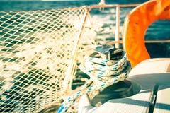yachting яхты ворота парусника веревочки детали Стоковое фото RF