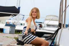 At the yachting Stock Photography