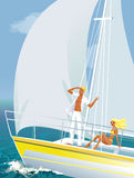 Yachting imagem de stock royalty free