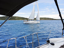 Yachting in Adriatic sea, Dalmatia, Croatia Royalty Free Stock Photos