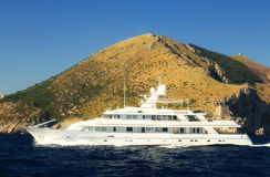 Yachting at Capri Island, Italy Royalty Free Stock Photo