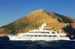 Yachting at Capri Island, Italy royalty free stock photo