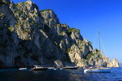 Yachting at Capri Island, Italy, Europe Stock Photography
