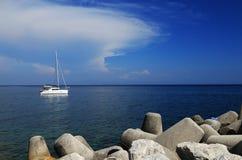 Yachting at Capri Island, Italy, Europe Royalty Free Stock Photos