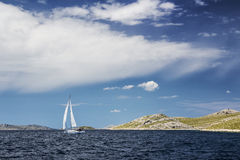 Yachting in Croatia Royalty Free Stock Photos