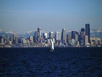 Yachting del suono di Puget Fotografia Stock