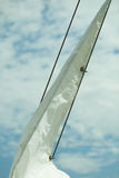 Yachting. Detail of sailing boat. Sail on a yacht. Royalty Free Stock Image