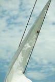 yachting Detail van varende boot Zeil op een jacht royalty-vrije stock afbeelding