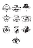 Yachting emblems Stock Images