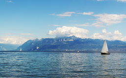 Yachting at Geneva Lake Royalty Free Stock Photo