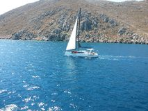 Yachting in Greece royalty free stock images