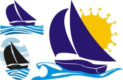 Yachting logo Royalty Free Stock Images