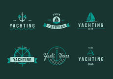 Yachting logo set Stock Photos